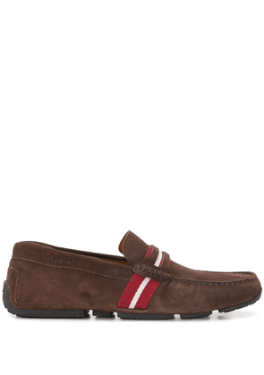 Bally stripe detail loafers - Brown