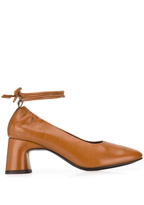 Dorateymur round-toe 70mm lace-up pumps - Brown