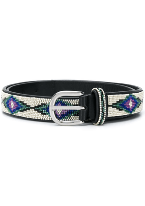 Isabel Marant Elsa bead-embellished belt - NEUTRALS