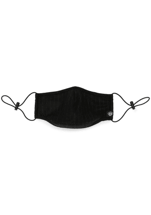 Mostly Heard Rarely Seen pinstripe face mask - Black
