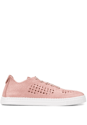 AGL basket-woven low-top trainers - PINK