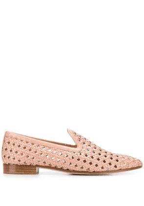 Fratelli Rossetti woven 20mm loafers - NEUTRALS
