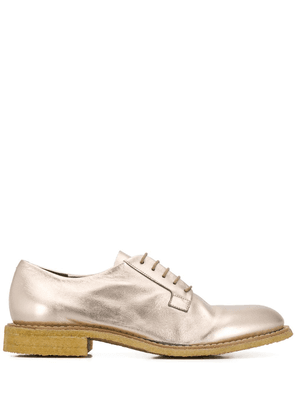 Del Carlo lace-up brogue shoes - GOLD