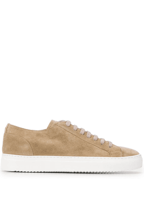 Doucal's low-top lace up sneakers - NEUTRALS