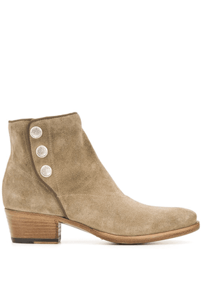 Alberto Fasciani pointed ankle boots - NEUTRALS