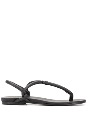 Del Carlo flat toe strap sandals - Black