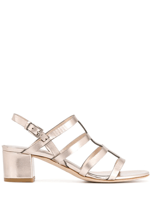 Del Carlo strappy 50mm sandals - GOLD