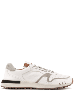 Buttero perforated low-top trainers - White