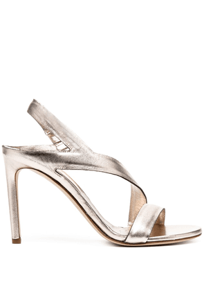 Del Carlo Mirror metallic sandals - SILVER