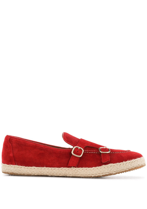 Doucal's double-buckle espadrilles - Red