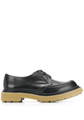 Adieu Paris x Tres Bien textured style brogues - Black