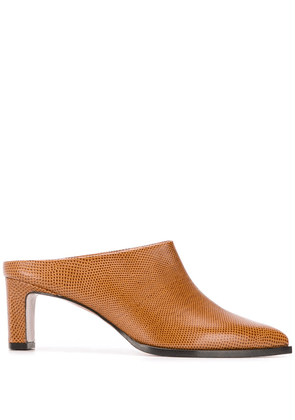 ATP Atelier pointed toe mules - Brown