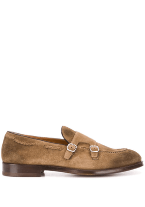 Doucal's low heel buckled loafers - Brown