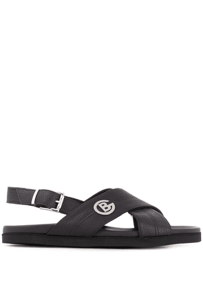 Baldinini logo open-toe sandals - Black