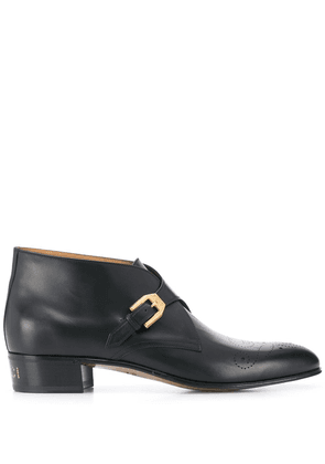Gucci brogue detail boots - Black