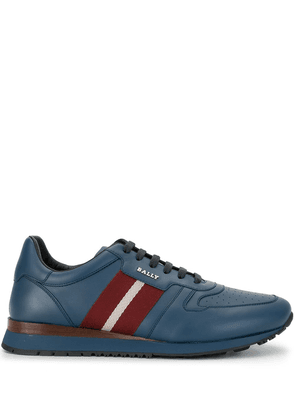 Bally woven striped sneakers - Blue