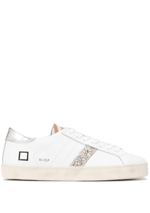 D.A.T.E. glitter detail low top sneakers - White