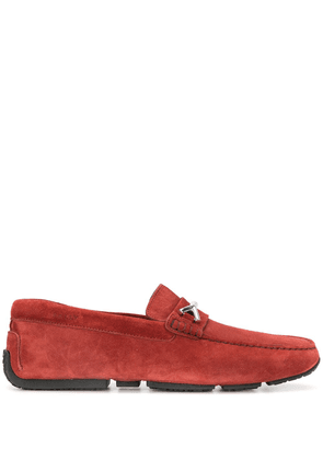 Bally woven-strap loafers - Red
