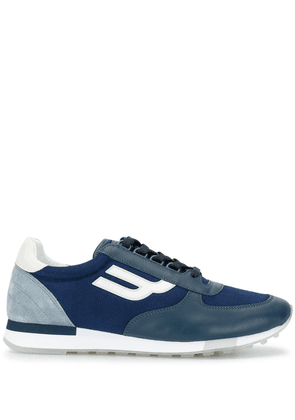 Bally leather panelled sneakers - Blue