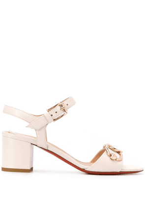 Baldinini chain-embellished 65mm sandals - NEUTRALS