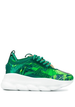 Versace Chain Reaction Jungle print sneakers - Green