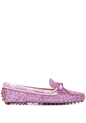 Car Shoe Glitter Driving loafers - PINK