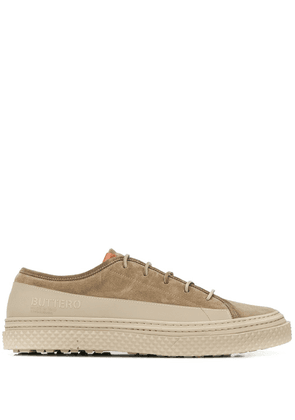 Buttero two-tone lace-up sneakers - Brown
