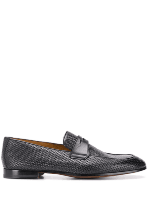 Doucal's woven detail loafers - Blue