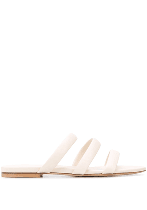 aeyde Chrissy slippers - NEUTRALS