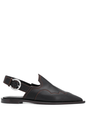 Cédric Charlier pointed sling-back ballerinas - Black