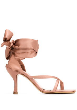 Gia Couture Kandice ankle-tied sandals - PINK
