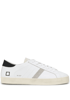 D.A.T.E. contrast panel logo embossed sneakers - White