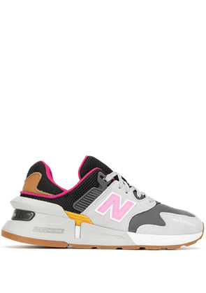 New Balance panelled logo sneakers - GOLD