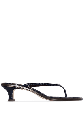 Sies Marjan Alix 40mm crocodile-effect sandals - Blue