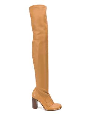 Loewe Thigh Loafer 90mm boots - Brown