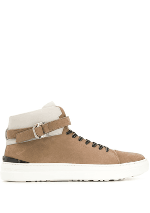 Buscemi lace-up hi-top sneakers - Brown
