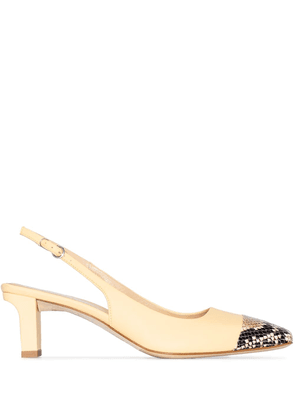aeyde Drew XX 75mm leather slingback pumps - Yellow