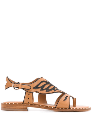 Ash Pampa eagle-shaped trimmed sandals - Brown