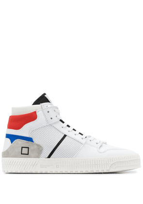 D.A.T.E. high-top contrast panel sneakers - White