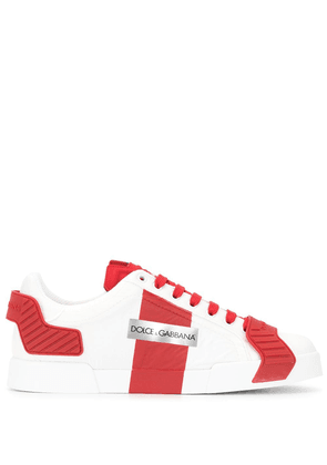 Dolce & Gabbana logo low-top sneakers - Red