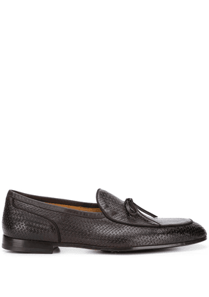 Doucal's woven low heel loafers - Brown