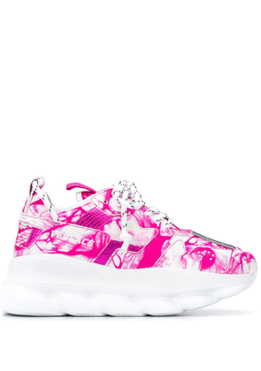 Versace Chain Reaction abstract-print sneakers - PINK