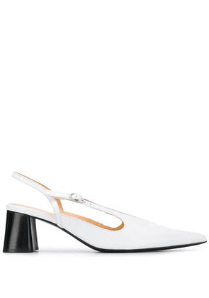 Ellery Diego 70mm slingback pumps - White
