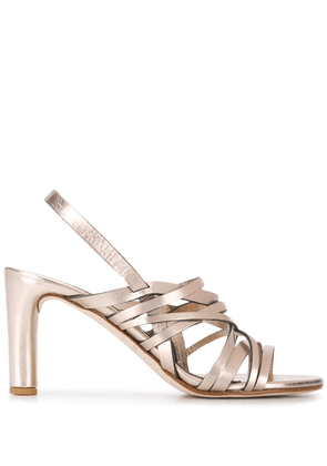 Del Carlo metallic strap sandals - NEUTRALS
