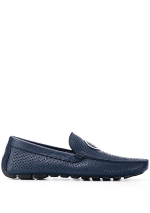 Baldinini logo plaque leather loafers - Blue