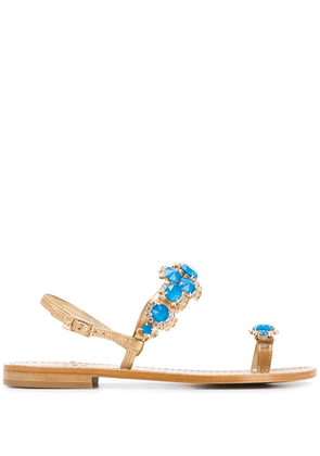 Emanuela Caruso jewelled toe-ring sandals - GOLD