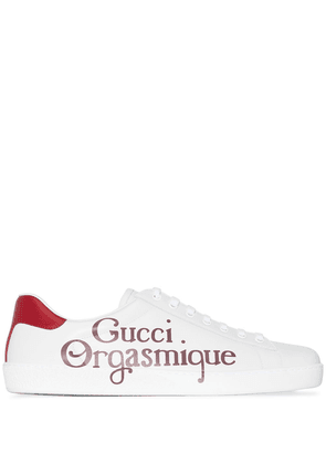 Gucci Ace Orgasmique print sneakers - White