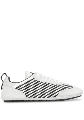 Dolce & Gabbana striped woven low-top sneakers - White