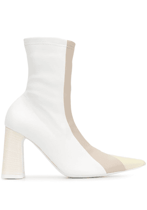 Ellery Helga 95mm ankle boots - White