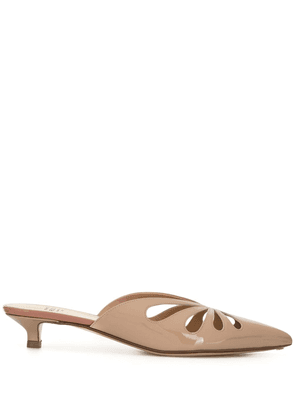 Francesco Russo 30mm cut out mules - PINK